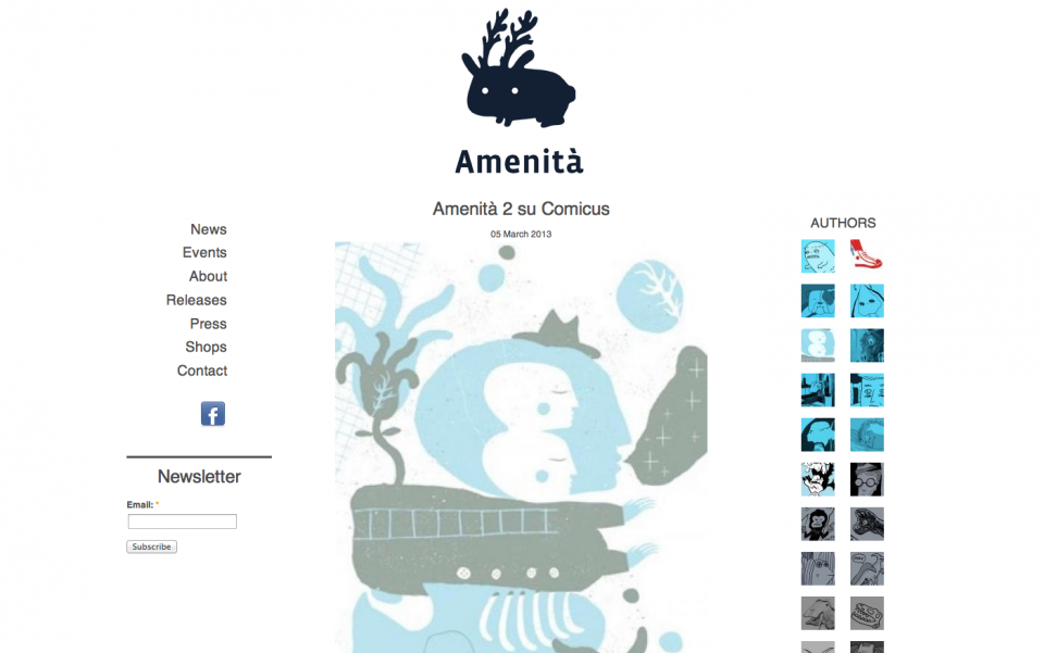 Amenità Comics – website