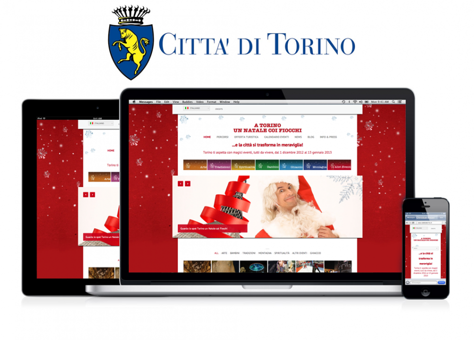 Natale coi Fiocchi – Website for Christmas activities 2012 in City of Turin