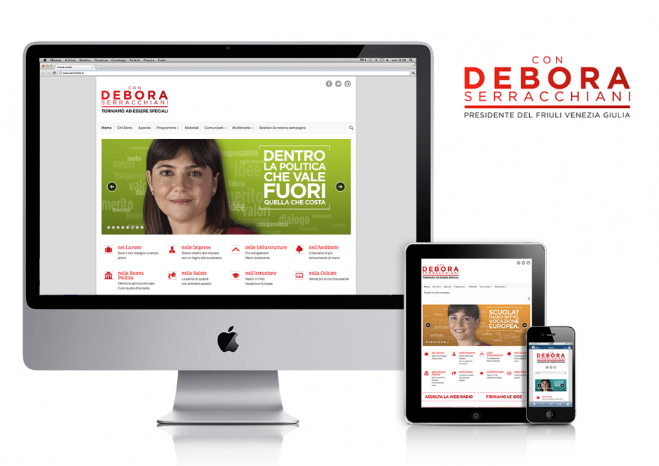 Debora Serracchiani – regional candidate's website