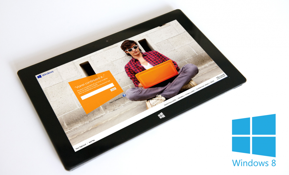 Windows 8 – Tablet graphic interface for promotional tour